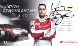 Racing driver Kevin Strohschänk, signed postcard 2016 season, English language