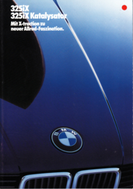 325iX Allrad (4wd) brochure, 26 pages, A4-size, 2/1986, German language