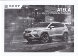 Ateca pricelist brochure, 20 pages, 01/2018, German language