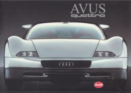 AVUS quattro W12 concept car brochure, 6 pages, 1991, Dutch language