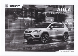 Ateca pricelist brochure, 16 pages, 07/2016, German language