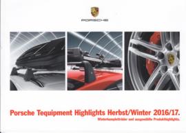 Tequipment Highlights & Porsche Service brochure, 44 pages, 09/2016, Austria, German language