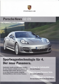 News 02/2009 with Panamera, 24 pages, 05/09, German language