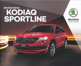 Kodiaq Sportline brochure, 28 pages, German language, 11/2018