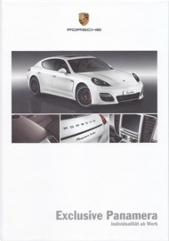 Panamera Exclusive brochure, 48 pages, 01/2011, hard covers, German
