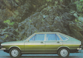Passat 4-door Hatchback postcard,  A6-size, about 1973, # 5