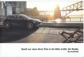 Macan Service Plus brochure, 6 pages, 01/2017, German