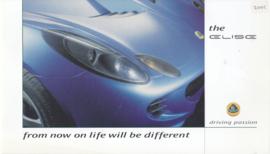 Elise Mk II brochure, 22 pages, oblong shape, 2001, English language