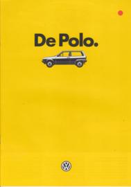 Polo Hatchback brochure, A4-size, 20 pages, 01/1985, Dutch language