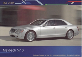 Maybach 57 S, A6-size postcard, IAA 2005