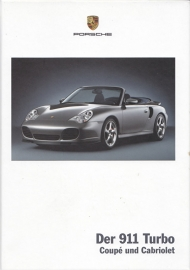 911 Turbo Coupe & Cabriolet brochure, 102 pages, 07/2003, hard covers, German