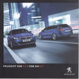 308 GT Berline & SW brochure, 24 pages, German language, 01/2015