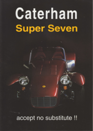 Caterham Super Seven brochure,  4 pages, about 2000, Dutch language