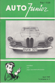 Auto Junior magazine,  A5-size, 16 pages, April 1959, Dutch language
