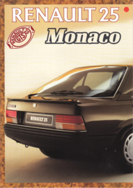 25 Monaco special edition brochure, 6 pages, 1987, Dutch language