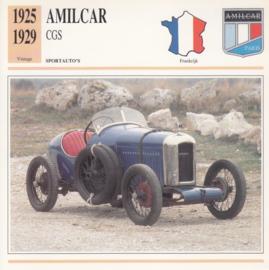 Amilcar CGS card, Dutch language, D5 019 07-03