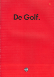 Golf brochure, 24 pages,  A4-size, Dutch language, 08/1985