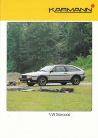 VW Scirocco by Karmann brochure, 2 pages, about 1987, German language