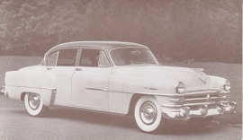 New Yorker 4-Door Sedan, US postcard, standard size, 1953, Dealers Supply # 68-D