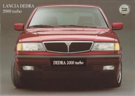 Dedra 2000 Turbo Sedan brochure, A4-size, 8 pages, about 1990, Dutch language