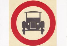 Old car on Dutch traffic sign, DIN A6-size, unused, Dutch issue, 2008