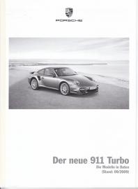 911 Turbo pricelist, 86 pages, 09/2009, German