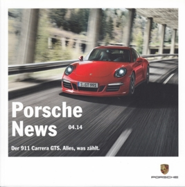 News 04/2014 with 911 Carrera GTS, 66 pages, 12/2014, German language