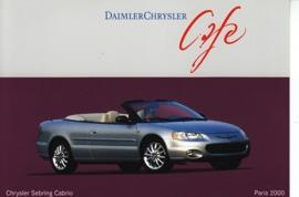 Chrysler Sebring Cabrio, A6-size postcard, Paris 2000