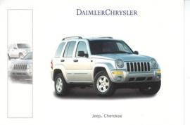 Jeep Cherokee, A6-size postcard, Geneva 2001