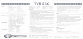 S3 C specs. & prices, 2 pages, German language, 1992, Switzerland *