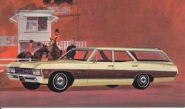 Caprice Custom Wagon, US postcard, standard size, 1967