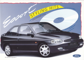 Escort Styling Hits brochure, 4 pages, size A4, 01/1995, German language