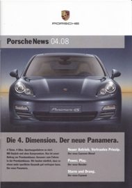 News 04/2008 with Panamera, 24 pages, 11/08, German language