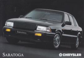 Saratoga Sedan, A6-size postcard, 1989, German issue