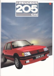 205 GTi brochure, 16 pages, A4-size, 1987, Dutch language