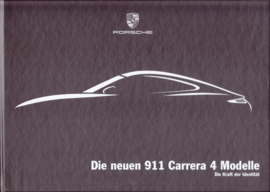 911 Carrera 4 brochure in box, 68 pages, 08/2012, German
