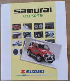 Samurai accessories brochure, 8 large pages, 09/1992, Dutch language