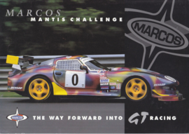 Mantis Challenge GT race series, 2 page brochure, about 2000, English language