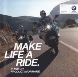 BMW K 1600 GT brochure, 24 pages, UX-VB-1, 2016, Dutch language