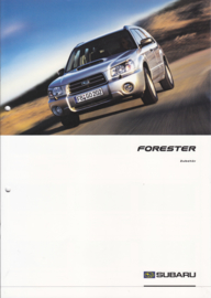 Forester accessories brochure, 8 pages, German language, 07/2003