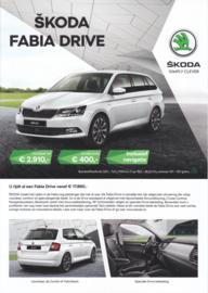 Fabia Drive brochure, 4 pages, Dutch language, 06/2017