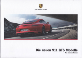 911 GTS brochure, 120 pages, 01/2017, hard covers, German