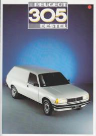 305 Delivery Van brochure, 4 pages, A4-size, 1987, Dutch language