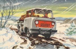Forward Control Truck FC-150, US foldovercard,  approx. 1956, # W-FC-11