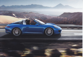 911 Targa 4,  A6 postcard, 2016,  German language
