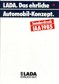 Program IAA brochure, 12 pages, 09/1985, German language