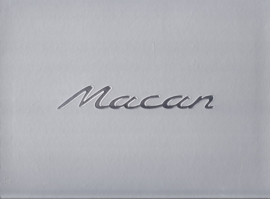 Macan introduction brochure in box, 92 pages, 01/2014, hard covers, Dutch language