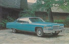 Sedan DeVille, US postcard, standard size, 1975