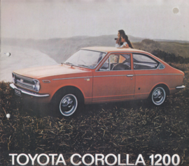 Corolla 1200 range brochure, 8 pages,  about 1970, Dutch language