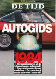 De Tijd Autogids, 16 pages, 1984, Dutch language (Belgium)